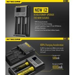 Nitecore caricabatteria I2 - 2 slot