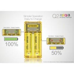 Nitecore caricabatteria Q2 - 2 Slot - Nero