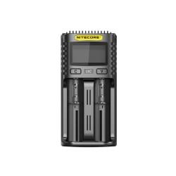 Nitecore caricabatteria UM2 - 2 slot - nero