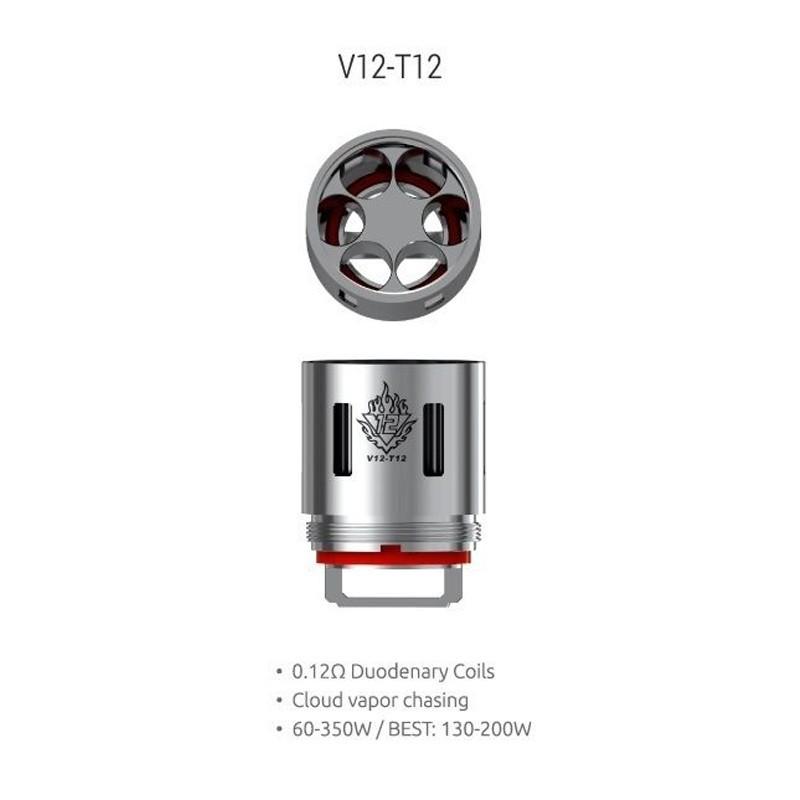 Smok resistenza T12 per TFV12 - 0.12ohm - 3pz