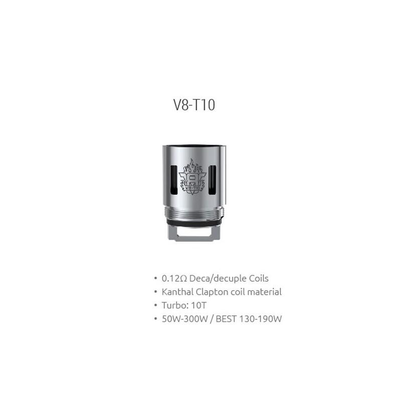 Smok resistenza V8-T10 per TFV8 - 0.12ohm - 3pz