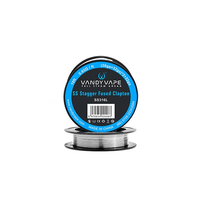 Vandy vape filo Stagger Fused Clapton SS316 - 3m