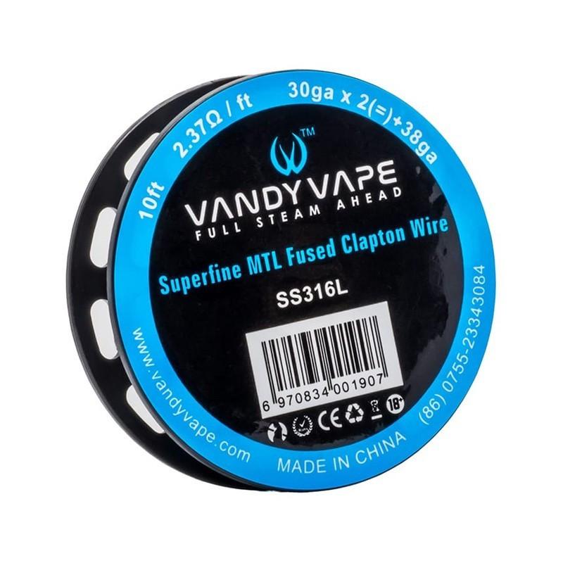 Vandy Vape SS316L Superfine MTL Fused Clapton Wire 30ga*2+38ga