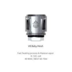 Smok resistenza V8 Baby Mesh - 5pz